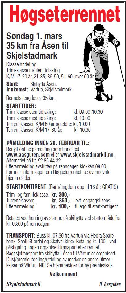 Annonse Høgseterrennet 2015